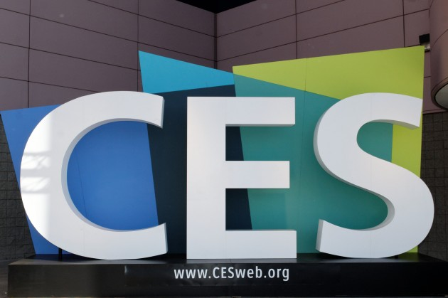 CES Sign in front of the LVCC 2012