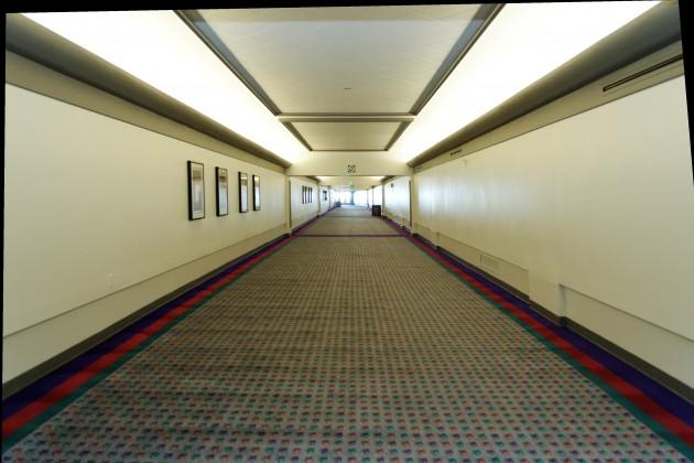 The Hilton Skywalk... Empty