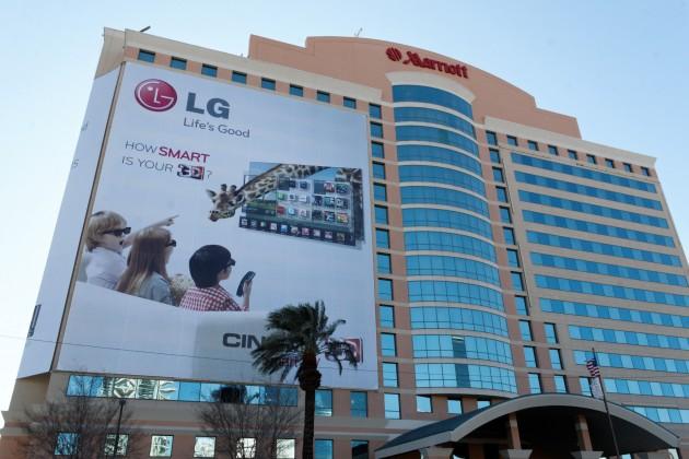 Giant LG ad on the Las Vegas Marriott