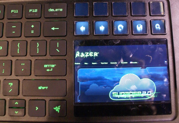 Razer Blade LCD touchscreen close-up