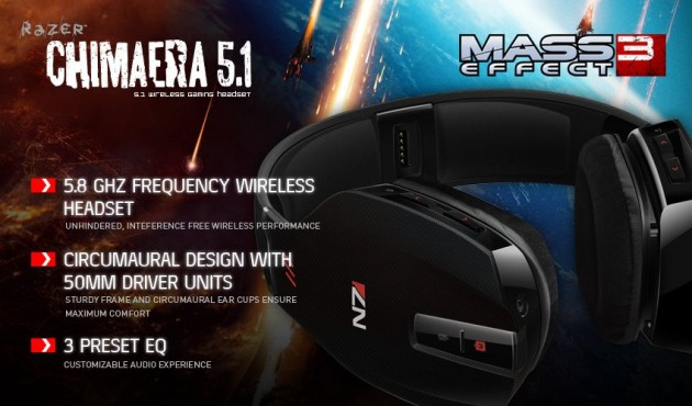 Mass Effect 3 Razer Headset