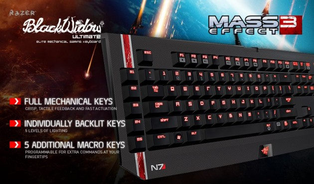 Mass Effect 3 Razer Keyboard