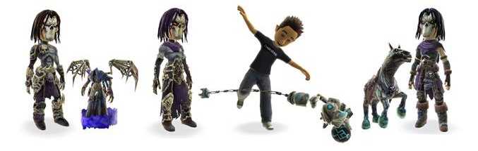 Darksiders ii xbox live avatar costumes and prop giveaway