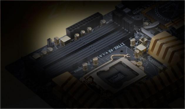 ECS Z77H2-AX-MB super alloy chokes