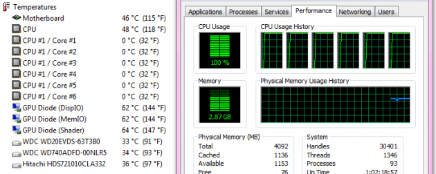 Water2.0 Performer temps under 100% CPU load