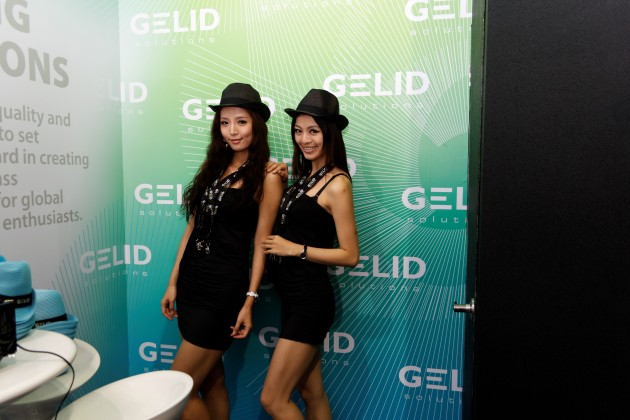 GELID Booth Babes at Computex 2012