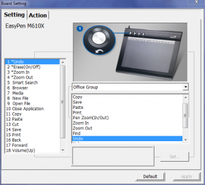 EasyPen m610XA interface