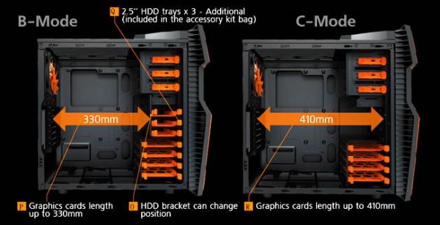 Cougar Challenger case configuration