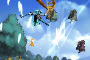 Dust: An Elysian Tail screenshot - mid-air combat