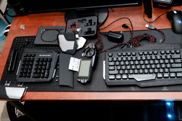 Strike 7 gaming keyboard included components