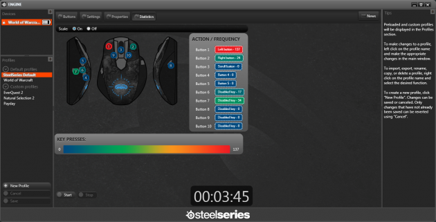 SteelSeries Engine HeatMap