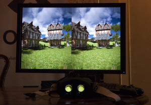Oculus Rift output on a monitor