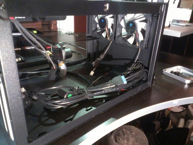 Fractal Design Node 304 with drive brackets removed
