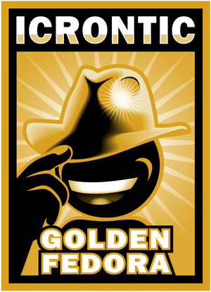 Icrontic Golden Fedora for Excellence