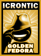 Icrontic Golden Fedora artwork
